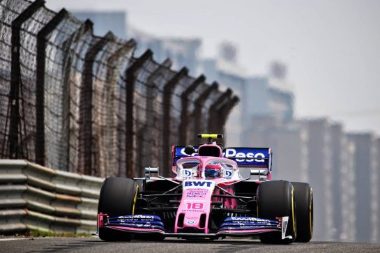 Lance Stroll (CDN) Racing Point F1 Team RP19. 12.04.2019. Formula 1 World Championship, Rd 3, Chinese Grand Prix, Shanghai, China, Practice Day. - www.xpbimages.com, EMail: requests@xpbimages.com - copy of publication required for printed pictures. Every used picture is fee-liable. © Copyright: Batchelor / XPB Images