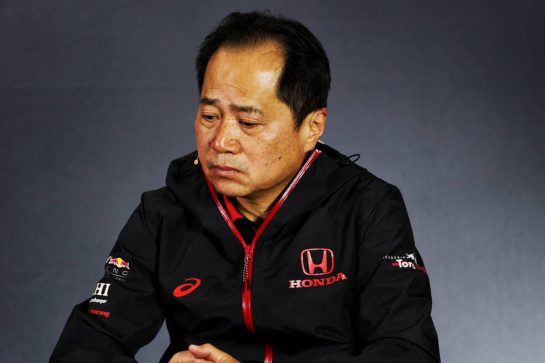 Toyoharu Tanabe (JPN) Honda F1 Technical Director in the FIA Press Conference. 12.04.2019. Formula 1 World Championship, Rd 3, Chinese Grand Prix, Shanghai, China, Practice Day.  - www.xpbimages.com, EMail: requests@xpbimages.com - copy of publication required for printed pictures. Every used picture is fee-liable. © Copyright: Bearne / XPB Images