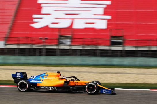 Carlos Sainz Jr (ESP) McLaren MCL34. 12.04.2019. Formula 1 World Championship, Rd 3, Chinese Grand Prix, Shanghai, China, Practice Day. - www.xpbimages.com, EMail: requests@xpbimages.com - copy of publication required for printed pictures. Every used picture is fee-liable. © Copyright: Photo4 / XPB Images