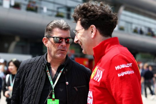 (L to R): Graeme Lowdon (GBR) and Mattia Binotto (ITA) Ferrari Team Principal. 13.04.2019. Formula 1 World Championship, Rd 3, Chinese Grand Prix, Shanghai, China, Qualifying Day. - www.xpbimages.com, EMail: requests@xpbimages.com - copy of publication required for printed pictures. Every used picture is fee-liable. © Copyright: Moy / XPB Images