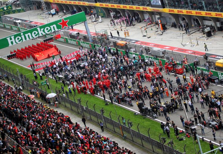 The grid before the start of the race. 14.04.2019.