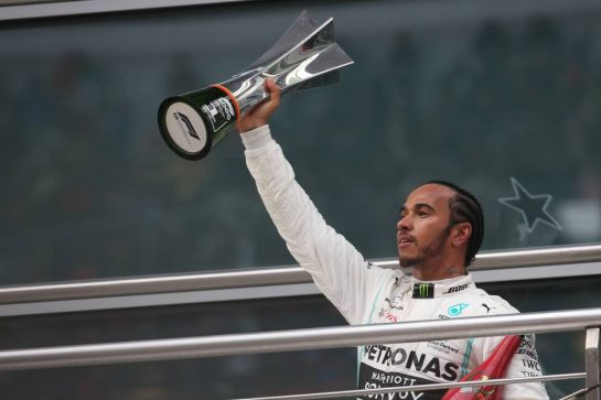 1st place Lewis Hamilton (GBR) Mercedes AMG F1. 14.04.2019. Formula 1 World Championship, Rd 3, Chinese Grand Prix, Shanghai, China, Race Day. - www.xpbimages.com, EMail: requests@xpbimages.com - copy of publication required for printed pictures. Every used picture is fee-liable. © Copyright: Batchelor / XPB Images