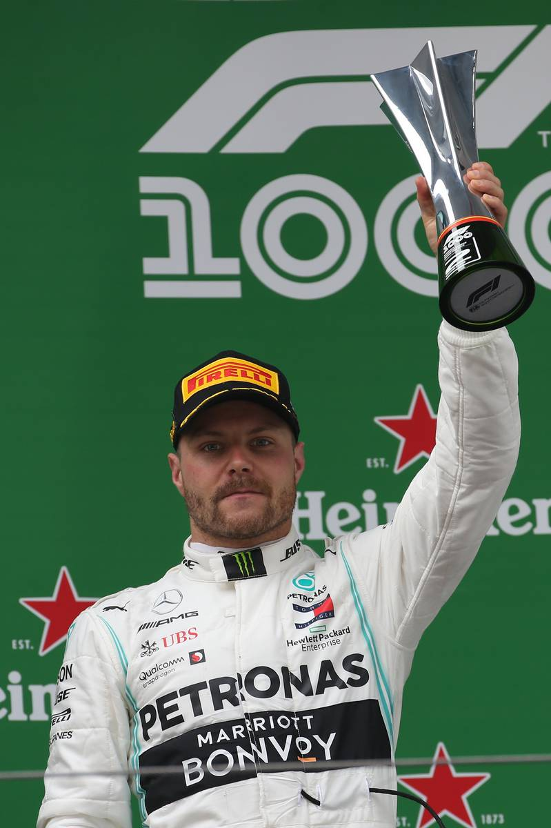 2nd place Valtteri Bottas (FIN) Mercedes AMG F1.