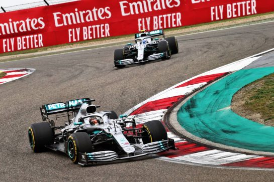 Lewis Hamilton (GBR) Mercedes AMG F1 W10. 14.04.2019. Formula 1 World Championship, Rd 3, Chinese Grand Prix, Shanghai, China, Race Day.  - www.xpbimages.com, EMail: requests@xpbimages.com - copy of publication required for printed pictures. Every used picture is fee-liable. © Copyright: Bearne / XPB Images