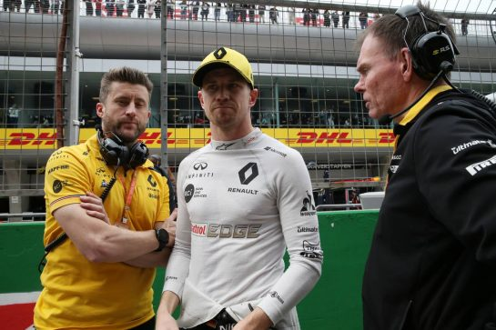 Nico Hulkenberg (GER) Renault Sport F1 Team RS19.14.04.2019. Formula 1 World Championship, Rd 3, Chinese Grand Prix, Shanghai, China, Race Day.- www.xpbimages.com, EMail: requests@xpbimages.com - copy of publication required for printed pictures. Every used picture is fee-liable. © Copyright: Batchelor / XPB Images
