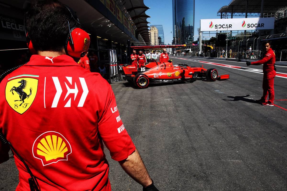 Charles Leclerc (MON) Ferrari SF90 leaves the pits.