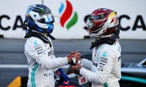 'Valtteri did an exceptional job' for pole, says Hamilton