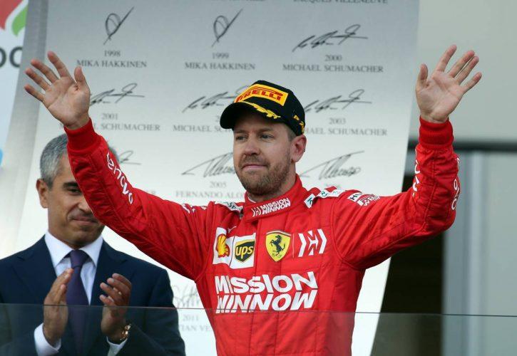 3rd place Sebastian Vettel (GER) Ferrari.