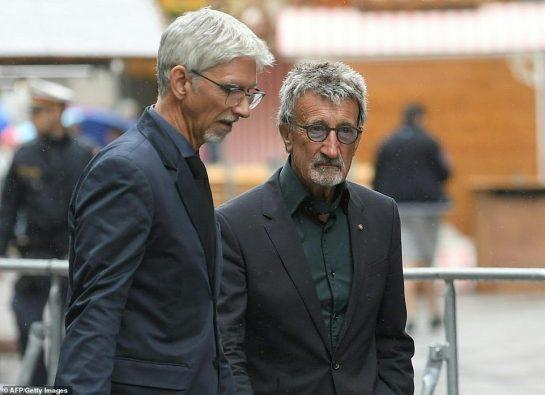 Damon Hill and Eddie Jordan. ©AFP