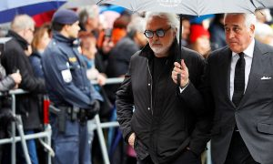Briatore hospitalized after testing positive for COVID-19