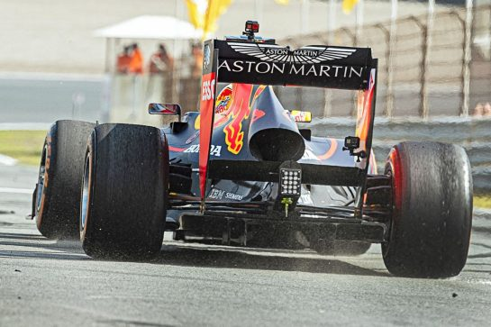 Max Verstappen performs during the Red Bull Racing Show Run in Zandvoort, The Netherlands on may 18 2019.