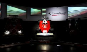The light shines on one special car in Maranello