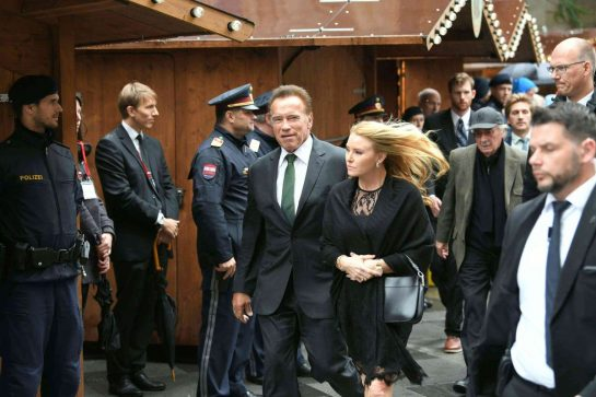 Arnold Schwarzenegger and his wife. ©AFP