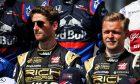 Haas drivers Romain Grosjean and Kevin Magnussen
