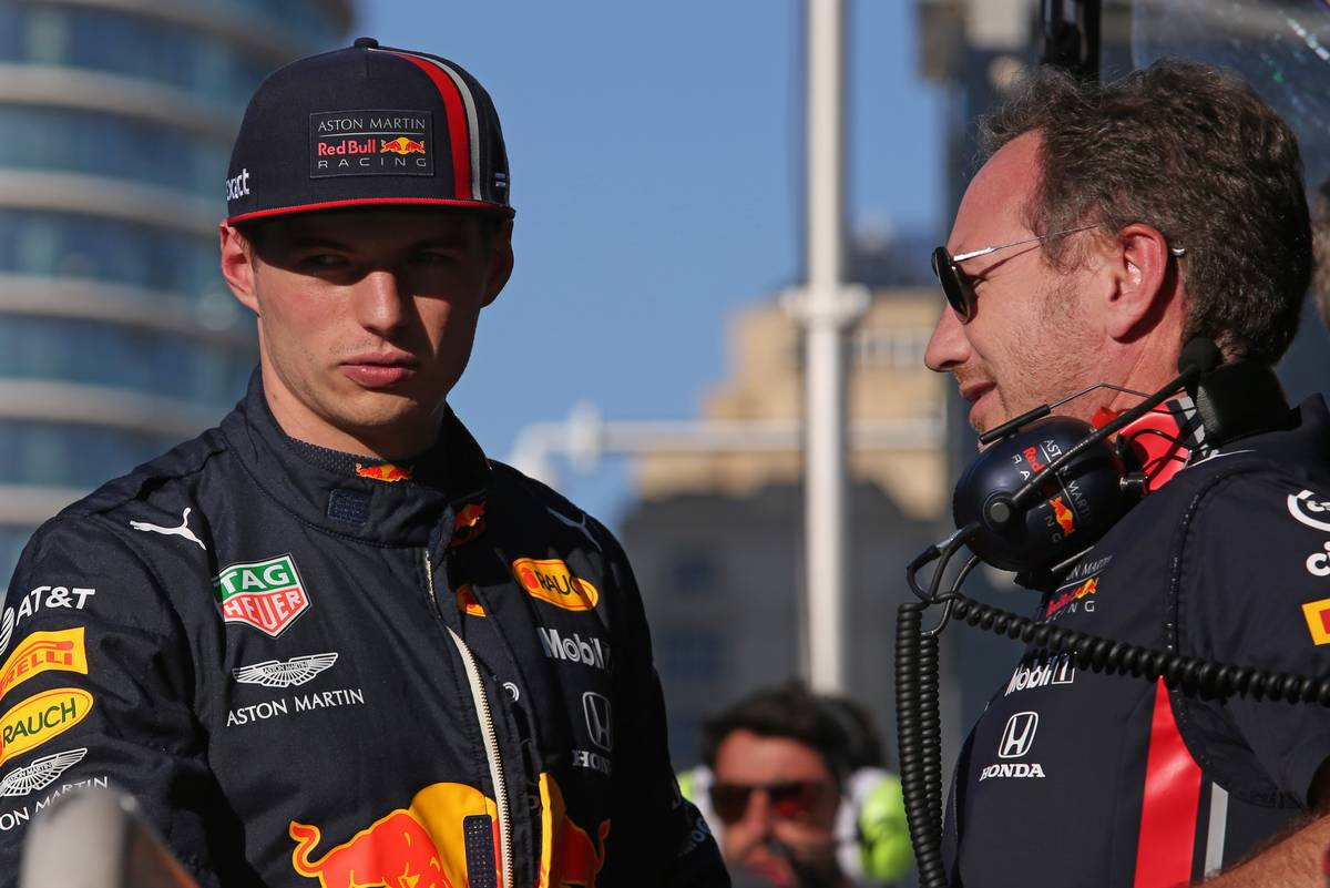Max Verstappen (NLD), Red Bull Racing and Christian Horner (GBR), Red Bull Racing Team Principal