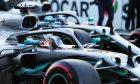 Lewis Hamilton (GBR) Mercedes AMG F1 W10 and Valtteri Bottas (FIN) Mercedes AMG F1 W10 in qualifying parc ferme.