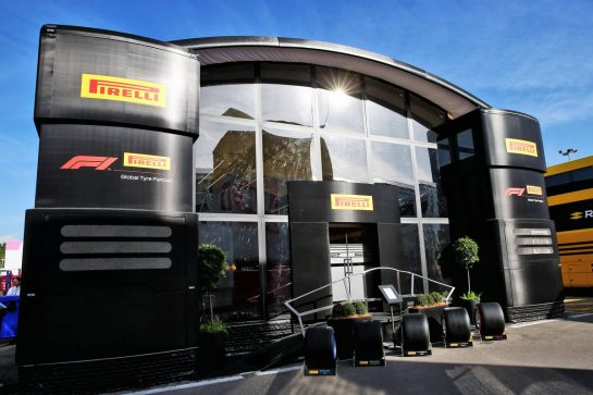 Pirelli motorhome. 09.05.2019. Formula 1 World Championship, Rd 5, Spanish Grand Prix, Barcelona, Spain, Preparation Day. - www.xpbimages.com, EMail: requests@xpbimages.com - copy of publication required for printed pictures. Every used picture is fee-liable. © Copyright: Batchelor / XPB Images