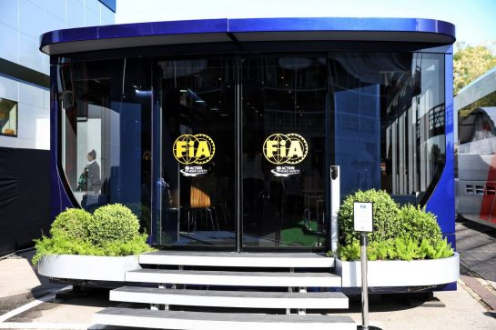 FIA motorhome. 09.05.2019. Formula 1 World Championship, Rd 5, Spanish Grand Prix, Barcelona, Spain, Preparation Day. - www.xpbimages.com, EMail: requests@xpbimages.com - copy of publication required for printed pictures. Every used picture is fee-liable. © Copyright: Batchelor / XPB Images