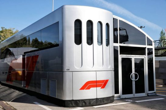 F1 Motorhome. 09.05.2019. Formula 1 World Championship, Rd 5, Spanish Grand Prix, Barcelona, Spain, Preparation Day. - www.xpbimages.com, EMail: requests@xpbimages.com - copy of publication required for printed pictures. Every used picture is fee-liable. © Copyright: Batchelor / XPB Images