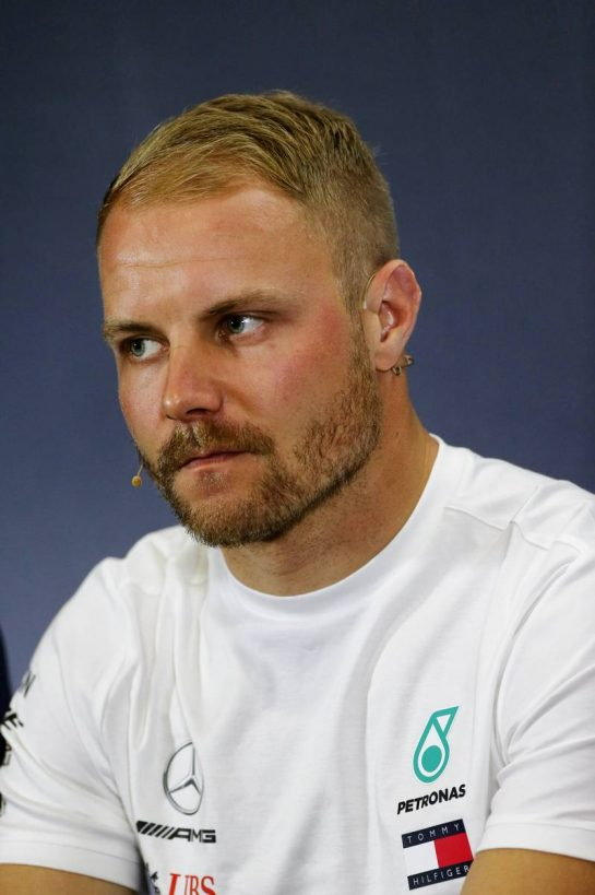 Valtteri Bottas (FIN) Mercedes AMG F1 in the FIA Press Conference.