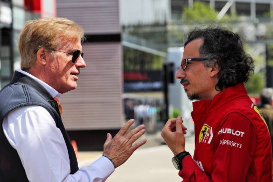 (L to R): Danny Sullivan (USA) FIA Steward with Laurent Mekies (FRA) Ferrari Sporting Director.