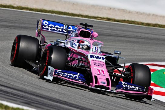 Sergio Perez (MEX) Racing Point F1 Team RP19. 10.05.2019. Formula 1 World Championship, Rd 5, Spanish Grand Prix, Barcelona, Spain, Practice Day. - www.xpbimages.com, EMail: requests@xpbimages.com - copy of publication required for printed pictures. Every used picture is fee-liable. © Copyright: Moy / XPB Images