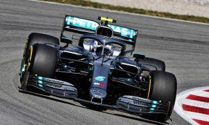 Mercedes' Bottas leads Ferrari duo in Barcelona FP1