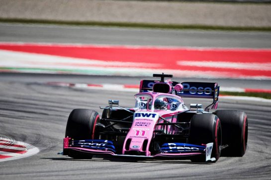 Sergio Perez (MEX) Racing Point F1 Team RP19. 10.05.2019. Formula 1 World Championship, Rd 5, Spanish Grand Prix, Barcelona, Spain, Practice Day. - www.xpbimages.com, EMail: requests@xpbimages.com - copy of publication required for printed pictures. Every used picture is fee-liable. © Copyright: Photo4 / XPB Images