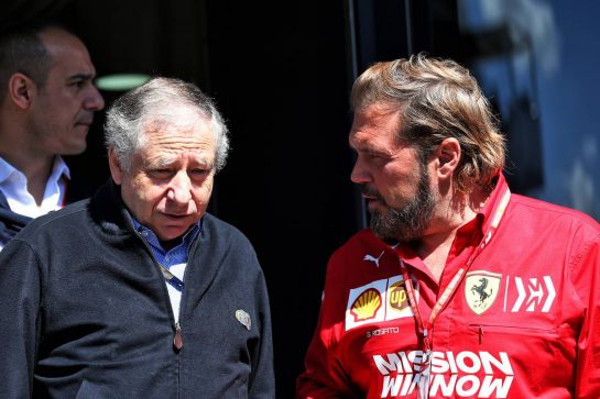 (L to R): Jean Todt (FRA) FIA President with Gino Rosato (CDN) Ferrari.