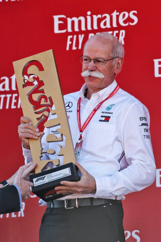 Dr. Dieter Zetsche (GER) Daimler AG CEO on the podium.