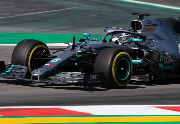 Mazepin fastest in F1 testing on Mercedes debut