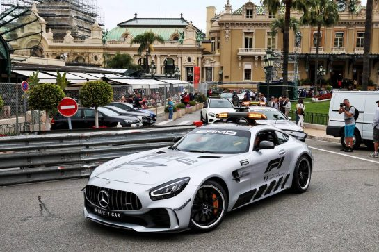 The FIA Safety Car. 22.05.2019. Formula 1 World Championship, Rd 6, Monaco Grand Prix, Monte Carlo, Monaco, Preparation Day. - www.xpbimages.com, EMail: requests@xpbimages.com - copy of publication required for printed pictures. Every used picture is fee-liable. © Copyright: Moy / XPB Images