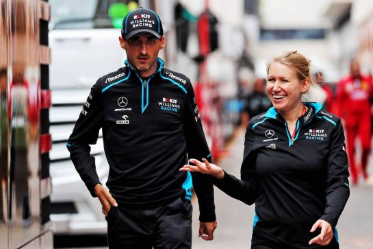 (L to R): Robert Kubica (POL) Williams Racing with Sophie Ogg (GBR) Williams Head of F1 Communications. 22.05.2019. Formula 1 World Championship, Rd 6, Monaco Grand Prix, Monte Carlo, Monaco, Preparation Day. - www.xpbimages.com, EMail: requests@xpbimages.com - copy of publication required for printed pictures. Every used picture is fee-liable. © Copyright: Photo4 / XPB Images