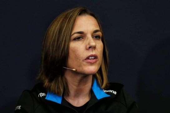 Claire Williams (GBR) Williams Racing Deputy Team Principal in the FIA Press Conference.