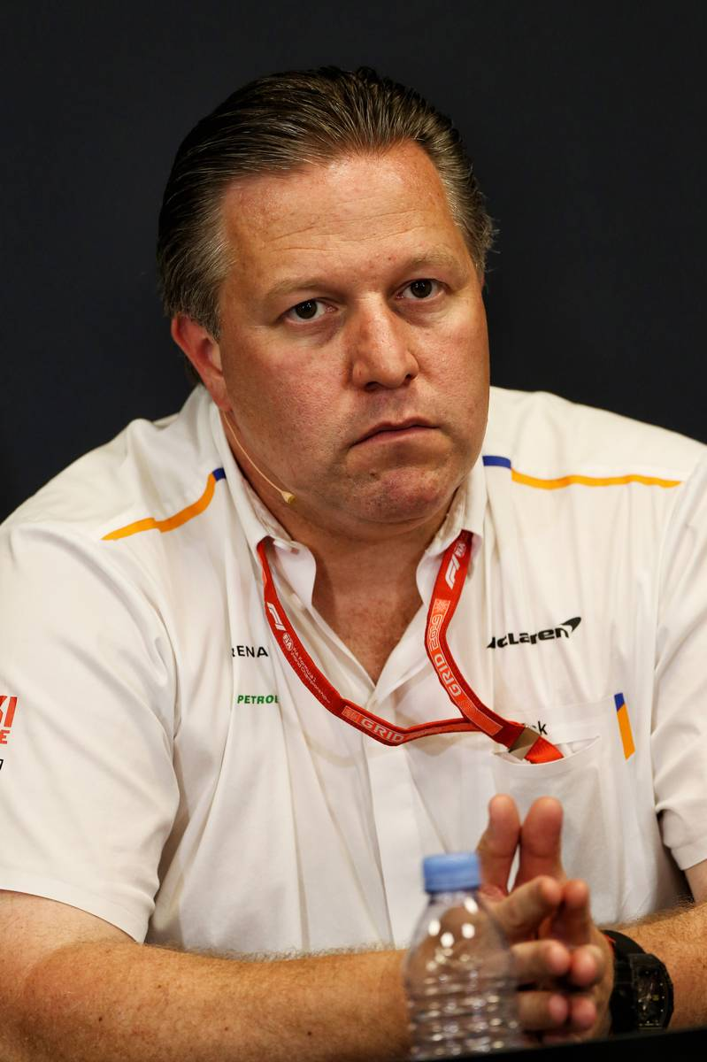 Zak Brown (USA) McLaren Executive Director in the FIA Press Conference.