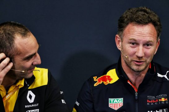(L to R): Cyril Abiteboul (FRA) Renault Sport F1 Managing Director and Christian Horner (GBR) Red Bull Racing Team Principal in the FIA Press Conference.