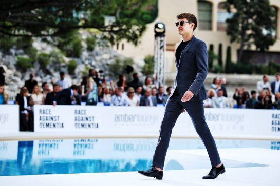 George Russell (GBR) Williams Racing at the Amber Lounge Fashion Show.