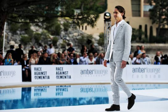 Esteban Gutierrez (MEX) Mercedes AMG F1 at the Amber Lounge Fashion Show.
