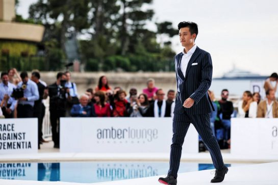 Guanyu Zhou (CHN) Renault F1 Team Test and Development Driver at the Amber Lounge Fashion Show.