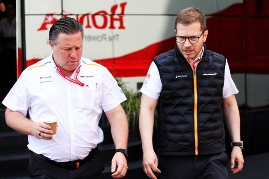 (L to R): Zak Brown (USA) McLaren Executive Director with Andreas Seidl, McLaren Managing Director. 25.05.2019. Formula 1 World Championship, Rd 6, Monaco Grand Prix, Monte Carlo, Monaco, Qualifying Day. - www.xpbimages.com, EMail: requests@xpbimages.com - copy of publication required for printed pictures. Every used picture is fee-liable. © Copyright: Batchelor / XPB Images