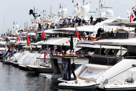 Boats in the scenic Monaco Harbour.