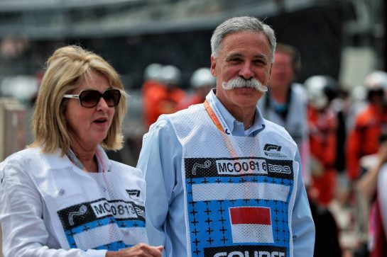 Chase Carey (USA) Formula One Group Chairman with his wife Wendy Carey (USA).