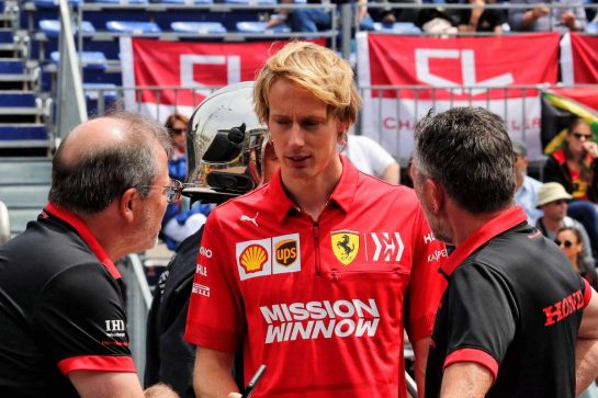 Brendon Hartley (NZL) Ferrari Test and Simulator Driver.