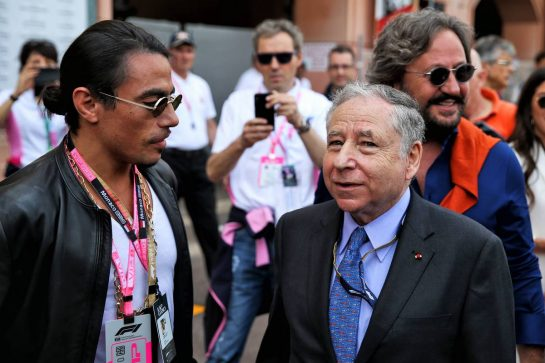 (L to R): Salt Bae (Nusret Gokce) (TUR) Butcher, with Jean Todt (FRA) FIA President.