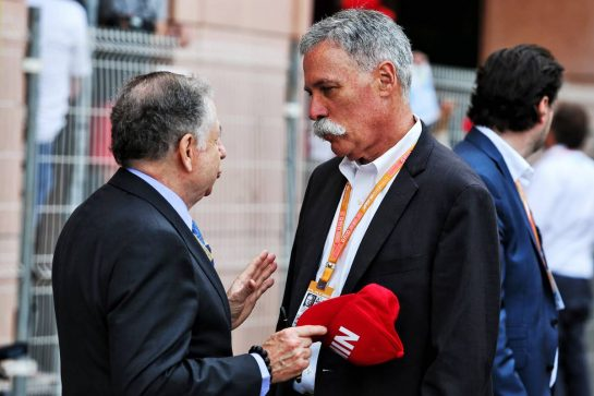 (L to R): Jean Todt (FRA) FIA President with Chase Carey (USA) Formula One Group Chairman.