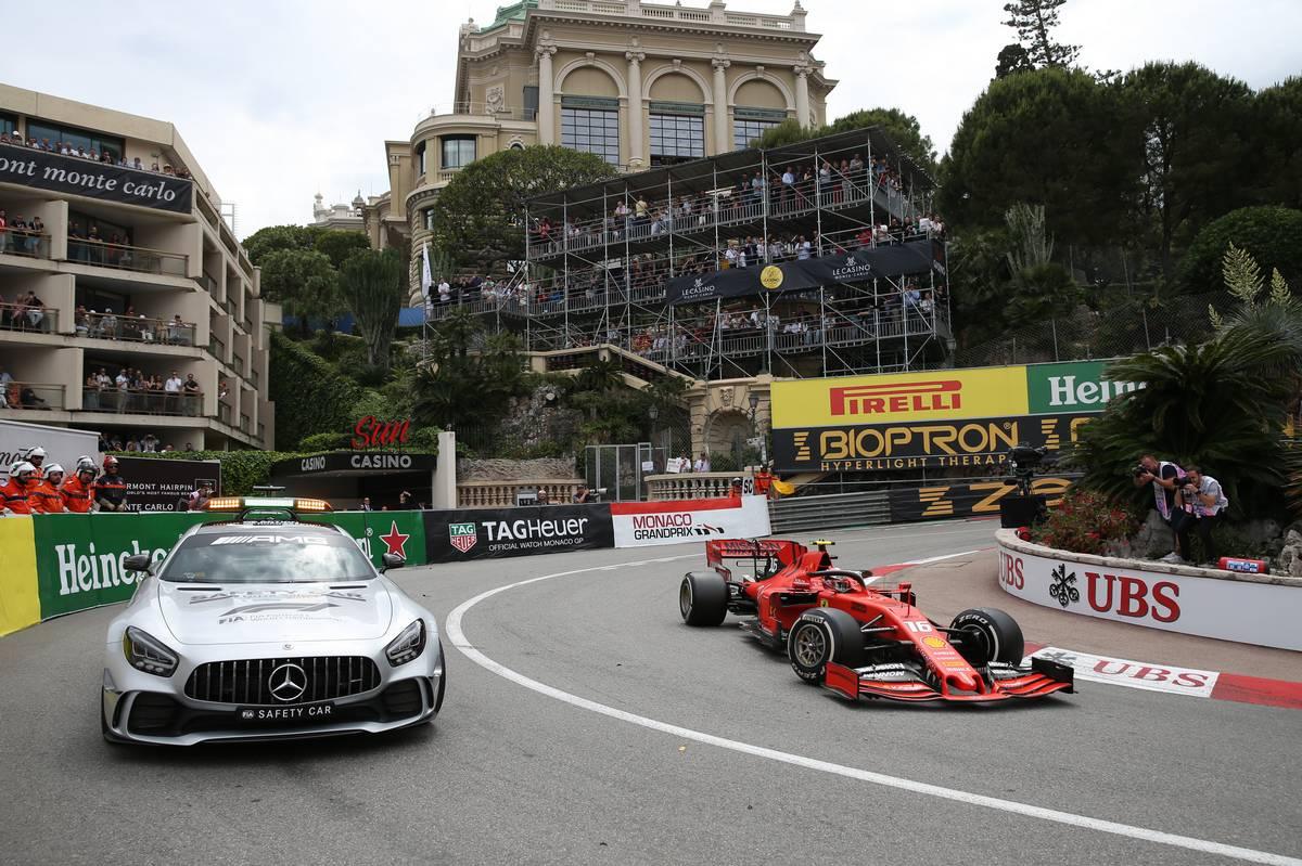 The safety car and Charles Leclerc (MON) Ferrari SF90. 26.05.2019.