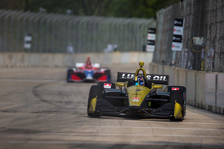 Marcus Ericsson clinches IndyCar podium at Detroit GP
