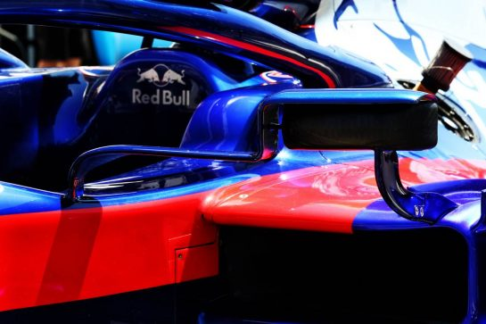 Scuderia Toro Rosso STR14 wing mirror detail.