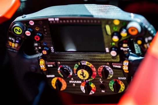 Ferrari SF90 steering wheel.