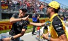 George Russell (GBR) Williams Racing with Daniel Ricciardo (AUS) Renault F1 Team on the drivers parade.